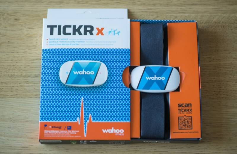 The Wahoo Fitness Tickr X is a chest-worn heart rate monitor and fitness tracker