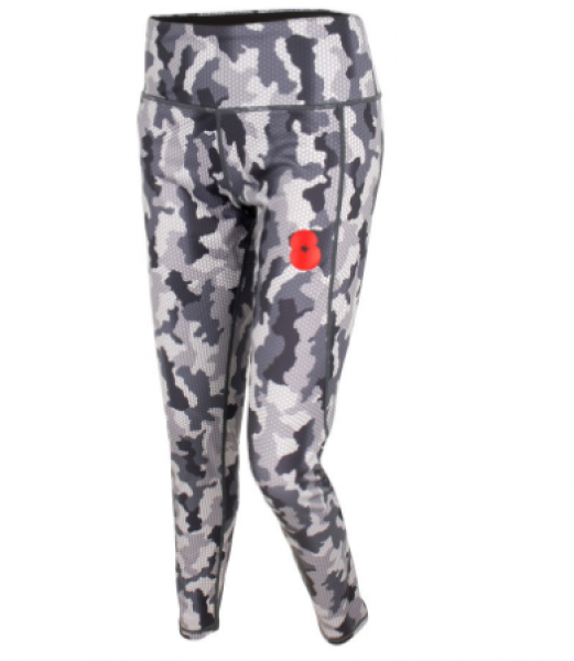 British Legion-Ladies Leggings Camo Charcoal