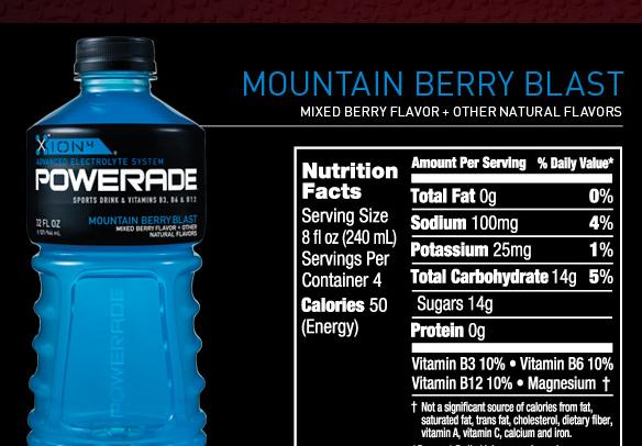 Powerade ION 4-Still Berry and tropical Isotonic Sports Drink
