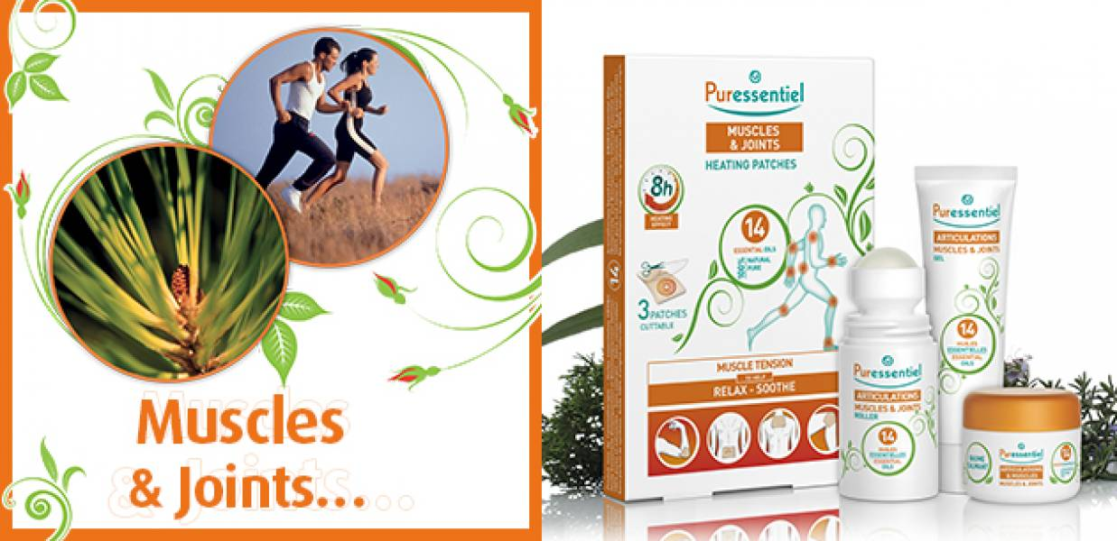 Puressentiel products for your muscles and joints